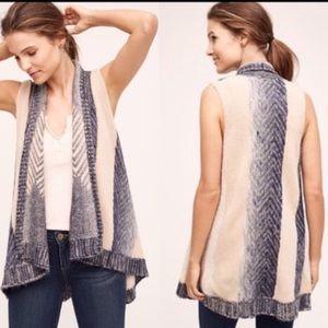 Anthropologie Sleeping on Snow sweater vest